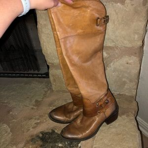 """Vince Camuto """"Brookelee"""" Tall Riding Boots 9 brown"""